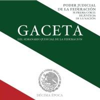 SCJN: GACETA del Semanario Judicial de la Federación Agosto 2016.